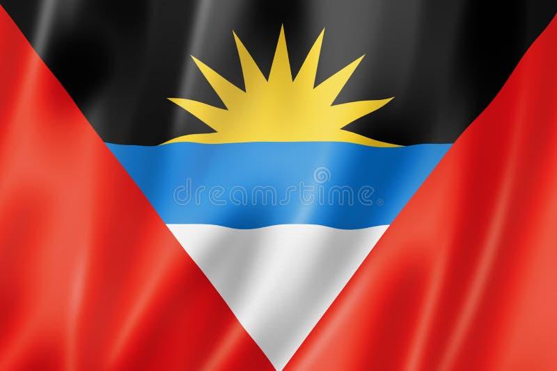 安提瓜和巴布达旗子 库存例证