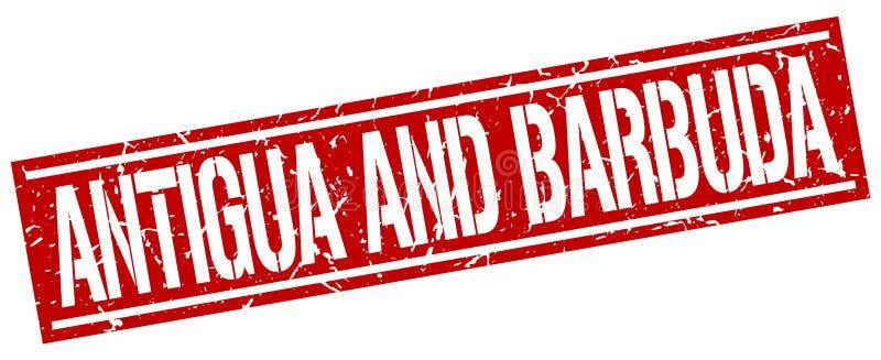 安提瓜和巴布达红色邮票 向量例证