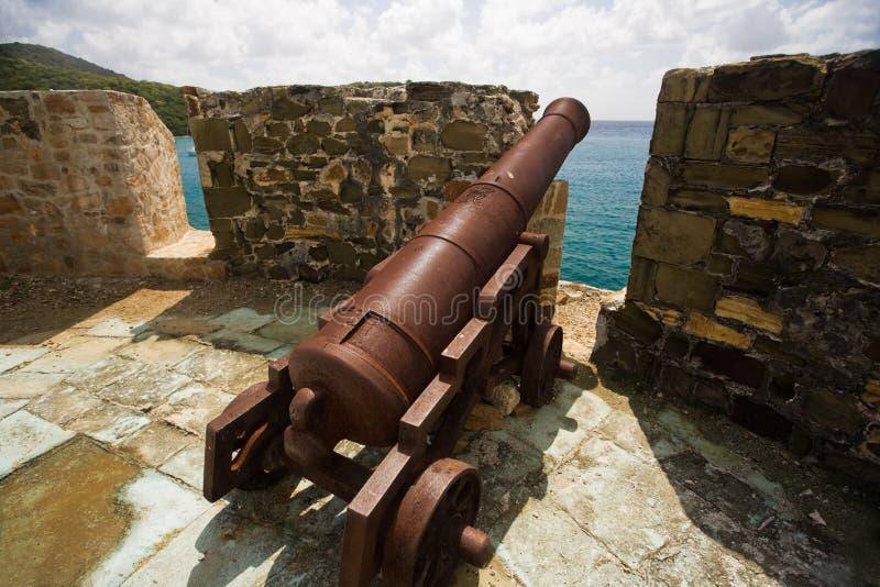 安提瓜岛探险 库存图片