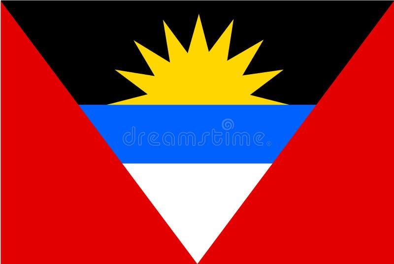 安提瓜岛标志 库存例证