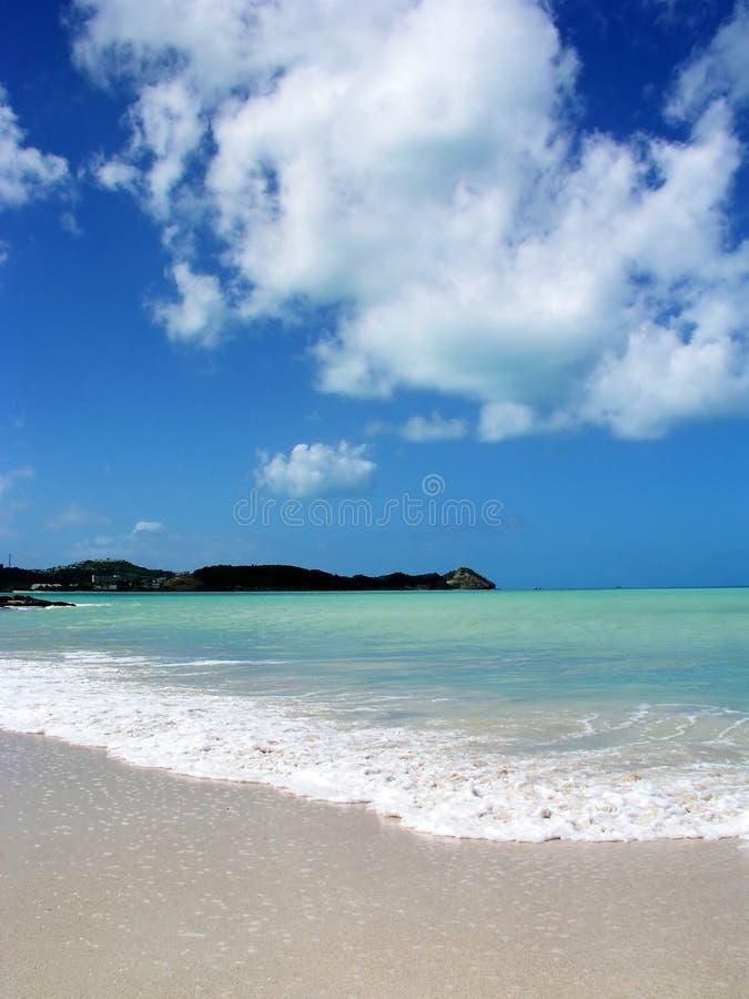 安提瓜岛海滩天堂 库存照片