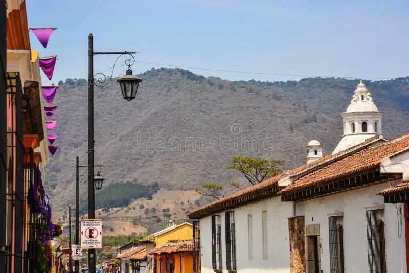 安提瓜岛,危地马拉的风景 免版税库存图片