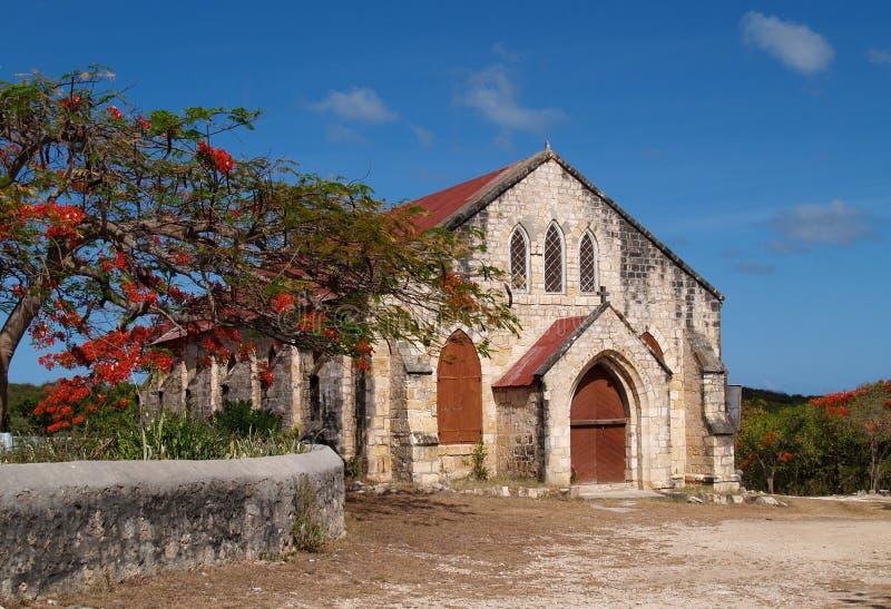 安提瓜岛barbu教会gilbert纪念品卫理公会派ਢ 免版税图库摄影