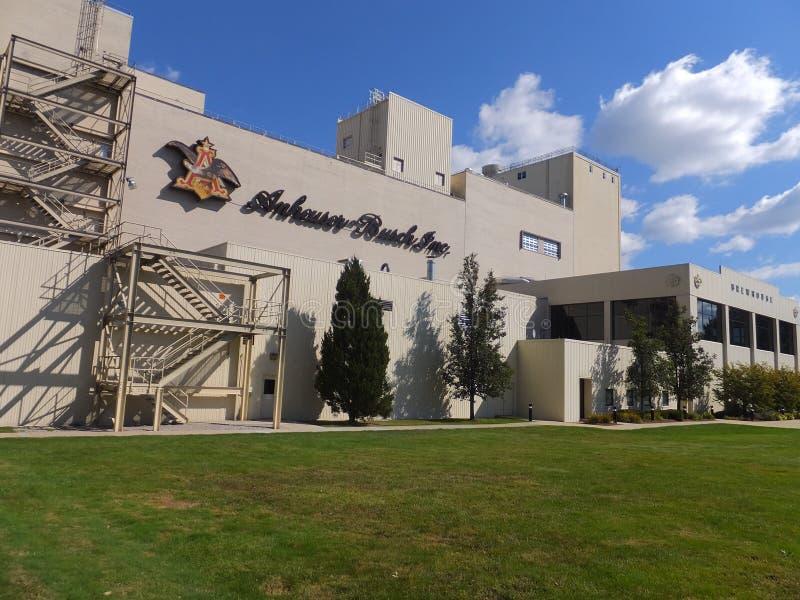 安海斯布希啤酒厂在Merrimack,新罕布什尔 免版税图库摄影
