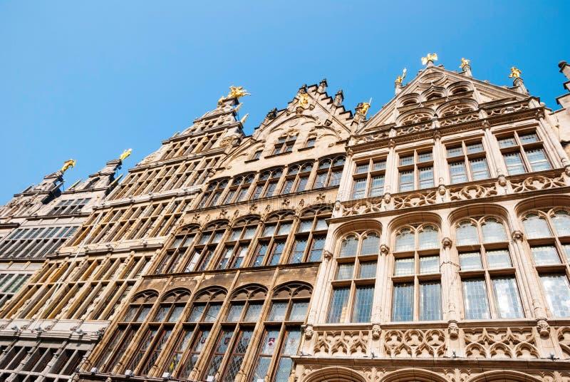 安特卫普老镇,比利时 免版税图库摄影