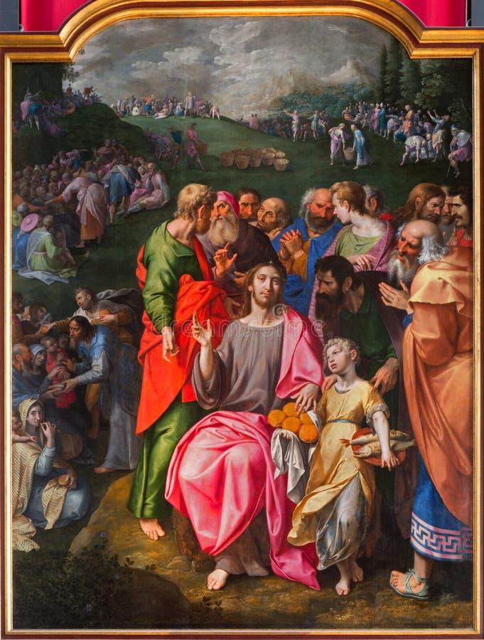 安特卫普-哺养许多油漆在我们的夫人大教堂里  库存照片