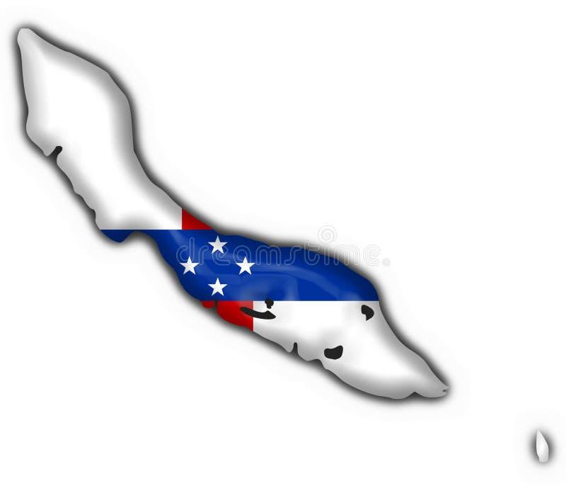 安的列斯群岛按钮curocao标志映射荷兰 库存例证