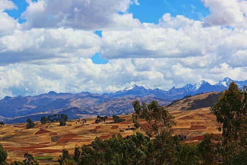 安第斯山脉库斯科秘鲁 免版税库存图片