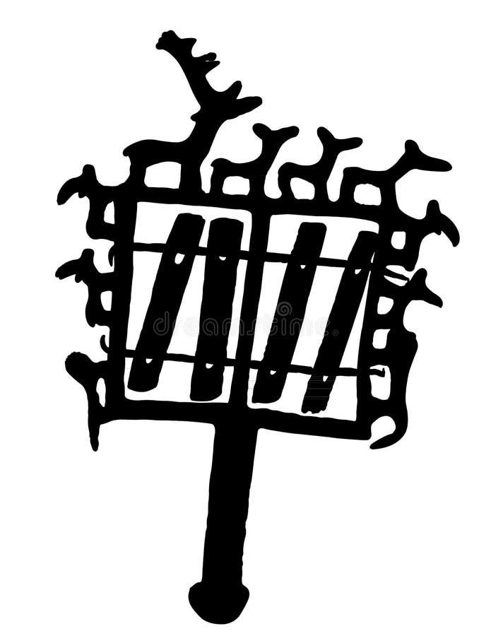 从安纳托利亚的废墟标志 皇族释放例证