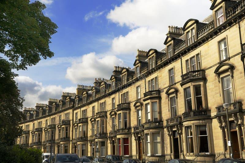 安置住宅苏格兰的爱丁堡高级 免版税库存照片