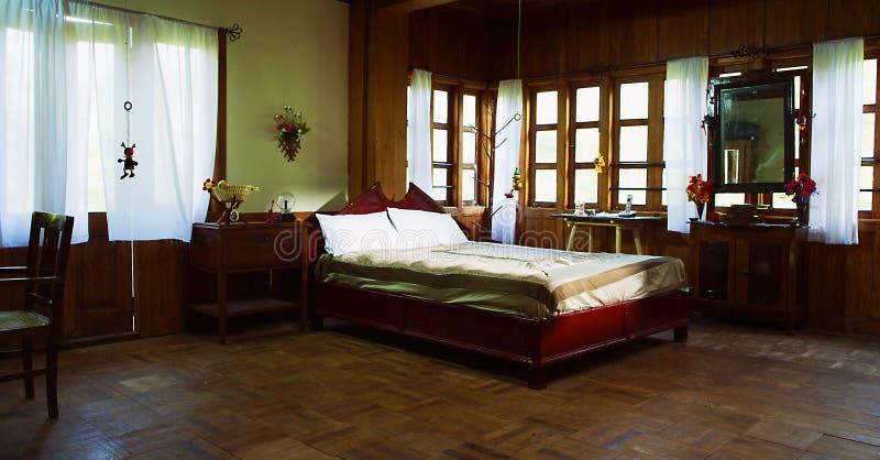 安置内部,现代客厅,床室 免版税库存图片
