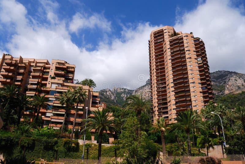 安置摩纳哥住宅高 免版税图库摄影
