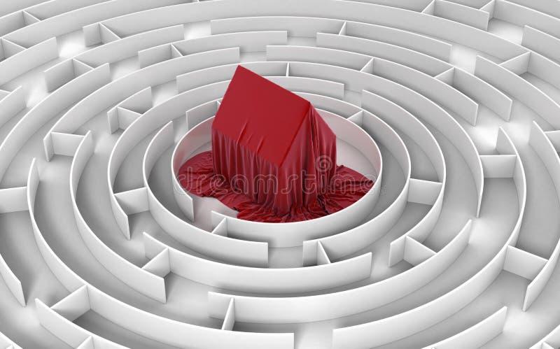 安置的迷宫 向量例证