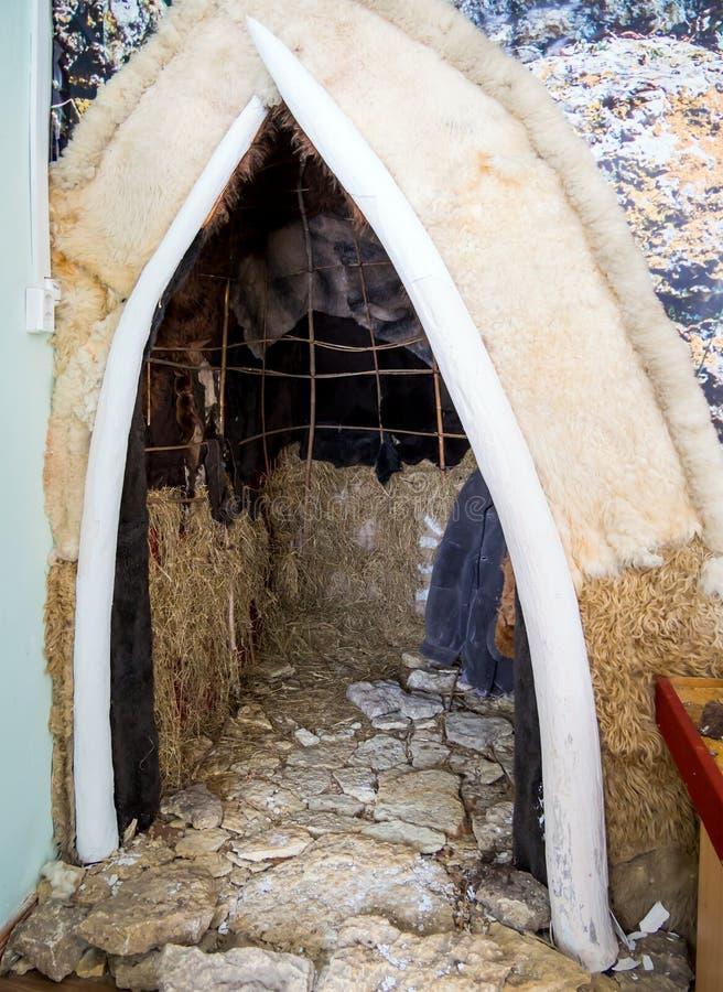 安置的Gagarinsky解决布局  上部旧石器时代 博览会的扎东斯克地方他 库存图片