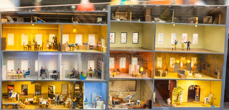 安置部分,盛大嘲笑博物馆是市圣彼德堡 免版税图库摄影