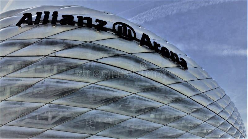 安联球场体育场在Muenchen德国 免版税库存图片