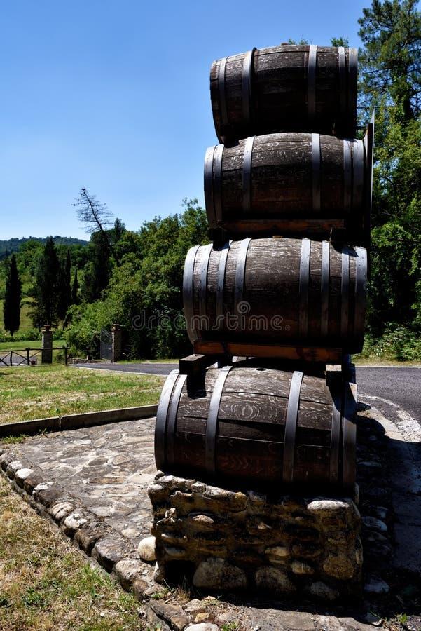 安蒂诺里nel Chianti Classico酿酒厂  库存图片