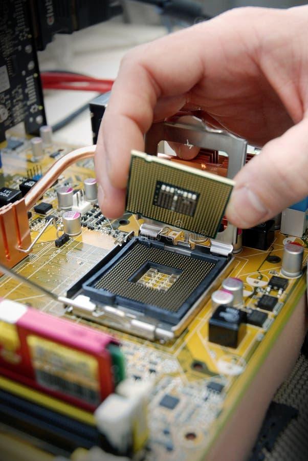 安装处理器 库存照片