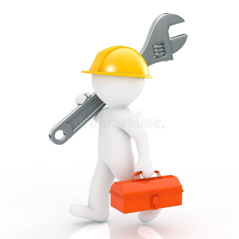 安装工 向量例证