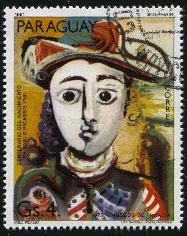安装的妇女巴勃罗・毕卡索 库存图片