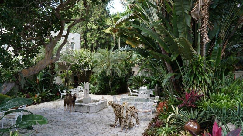 安诺顿雕塑庭院在西棕榈海滩,佛罗里达 免版税库存图片