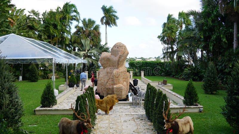 安诺顿雕塑庭院在西棕榈海滩,佛罗里达 免版税库存照片