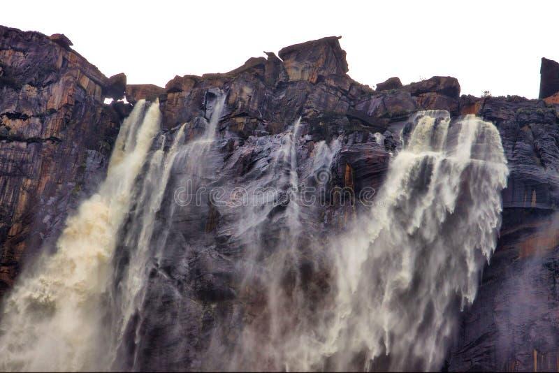 安赫尔瀑布上面  库存照片