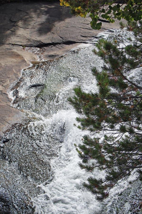 安赫尔瀑布-洛矶山国家公园 免版税库存照片