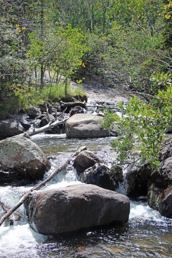 安赫尔瀑布-洛矶山国家公园 库存照片