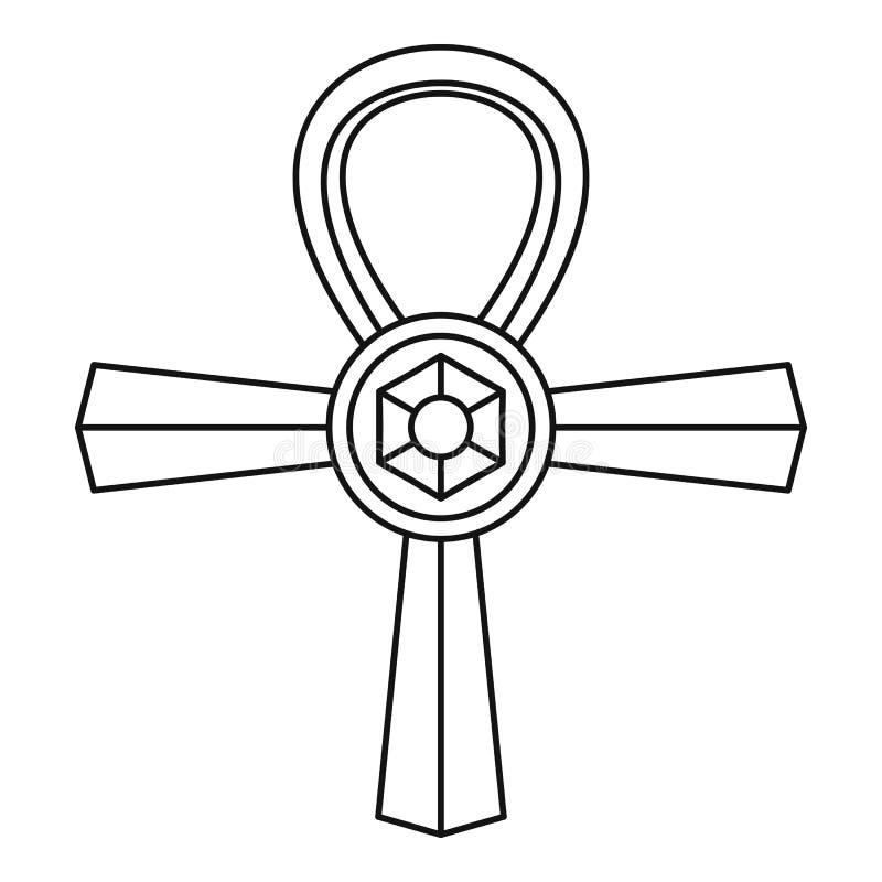 安赫标志象,简单的样式 皇族释放例证