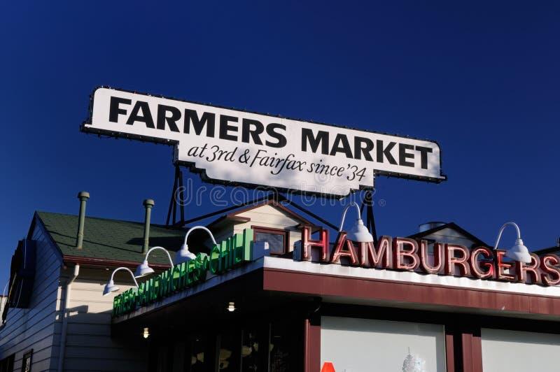 安赫莱斯加州农夫los市场 免版税库存图片