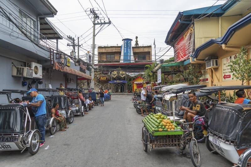 安赫莱斯市红灯区菲律宾 免版税库存照片