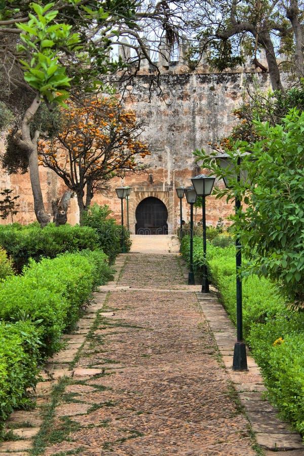 安达卢西亚的庭院在拉巴特 免版税图库摄影