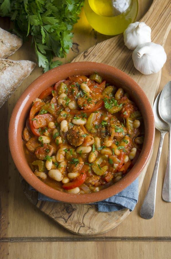 安达卢西亚的炖煮的食物 库存图片