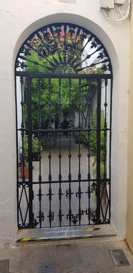 安达卢西亚的科多巴铁门 图库摄影