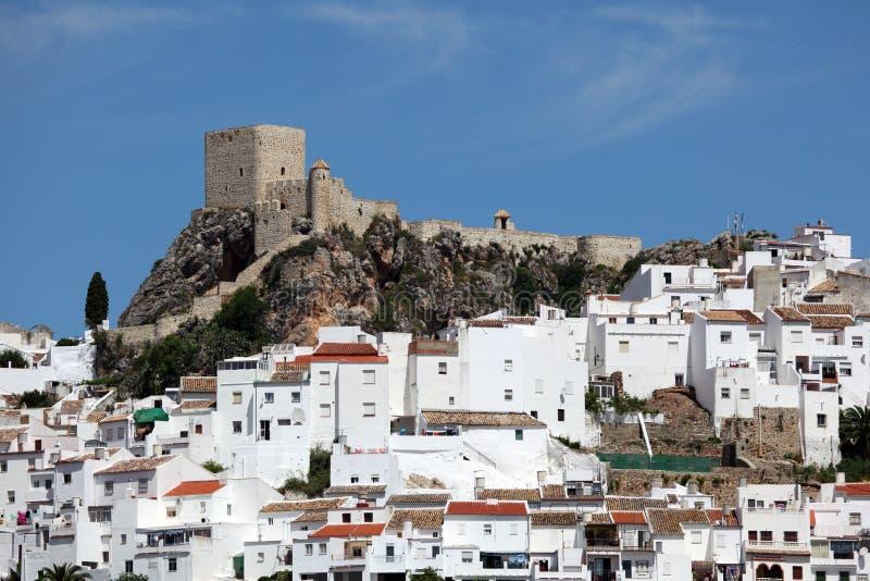 安达卢西亚的镇Olvera,西班牙 免版税库存照片