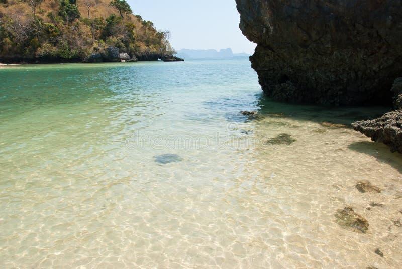 安达曼南场面的海岛在泰国 免版税库存图片