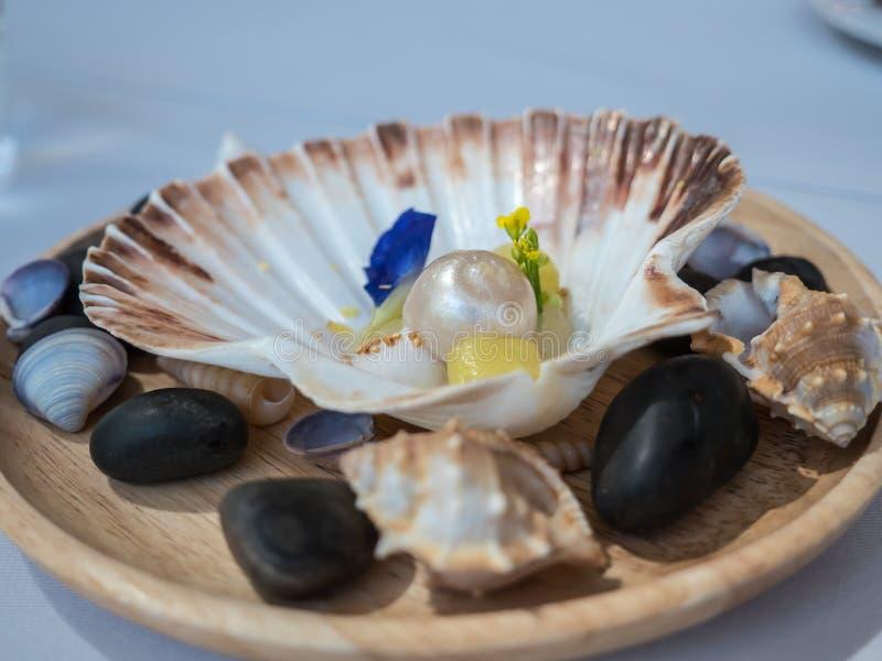 安达曼珍珠,艺术食物 免版税库存照片