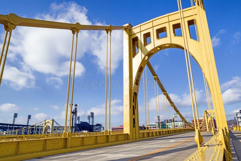 安迪・沃荷桥梁在街市匹兹堡,宾夕法尼亚,美国 免版税库存照片