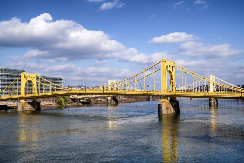安迪・沃荷桥梁在街市匹兹堡,宾夕法尼亚,美国 库存照片