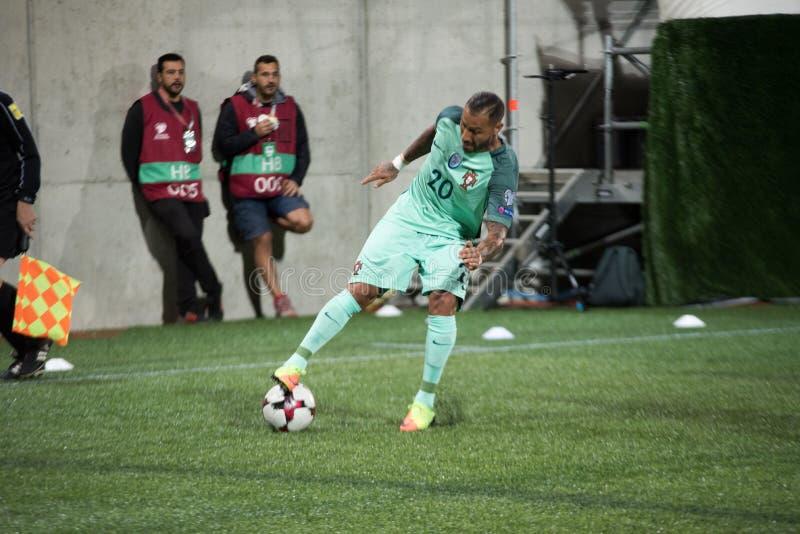 安道尔v葡萄牙-国际足球联合会2018年世界杯预选赛 库存照片