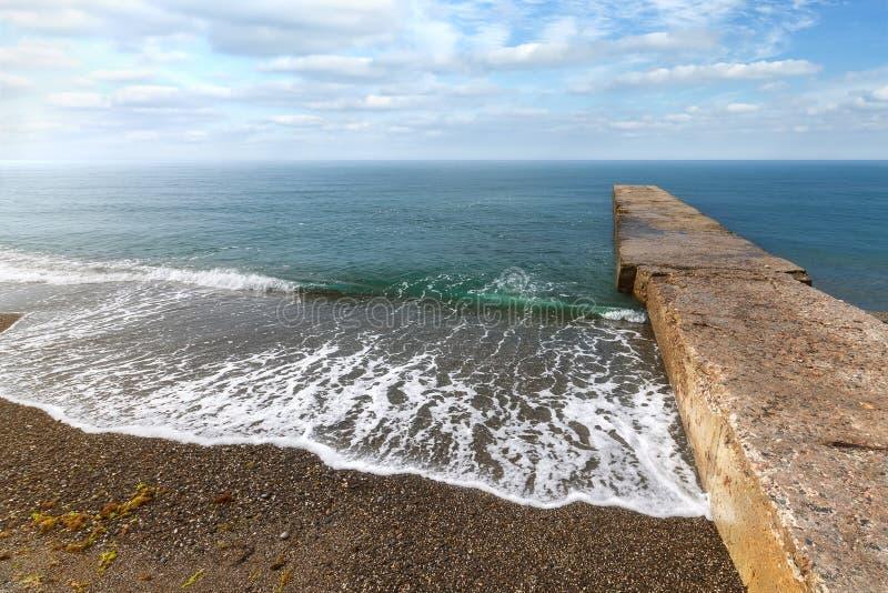 安静挥动在海滩 免版税库存照片