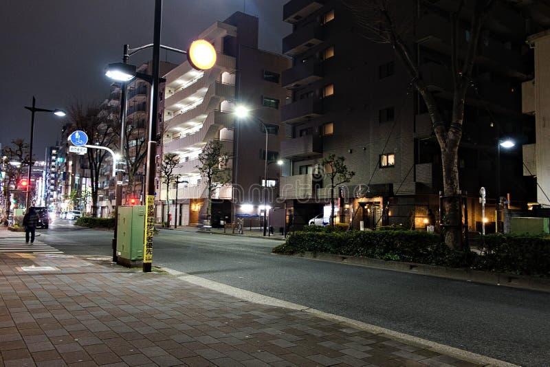 安静的城市在小区在日本 免版税库存照片