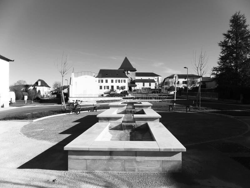 安静的巴斯克村庄 免版税图库摄影