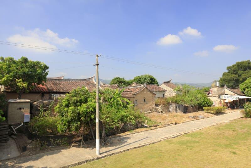 安静的zhaojiabao村庄,多孔黏土rgb 库存图片