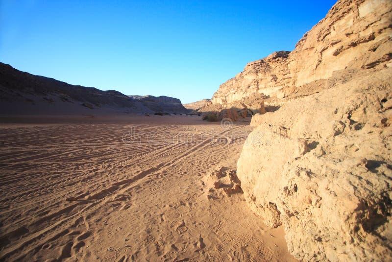完全地西部贫瘠的沙漠 免版税库存图片