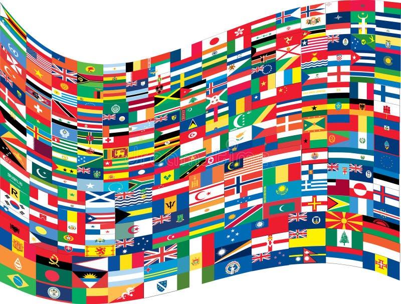 完全标志集合世界 皇族释放例证