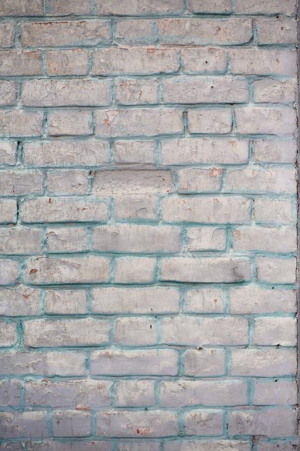 完善白色的砖墙 库存照片