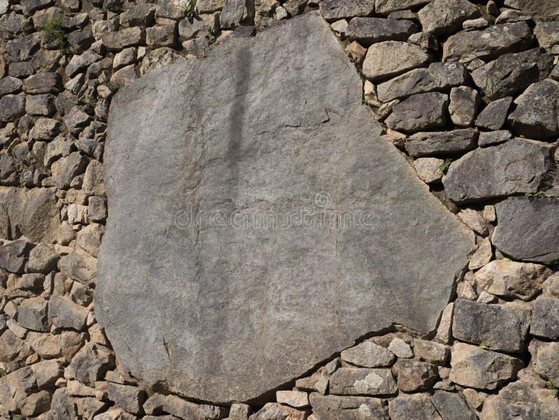 完善的印加人石制品细节  图库摄影