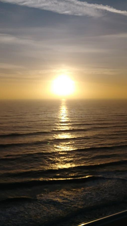 完善的美好的日落在佛罗里达中部 免版税库存照片